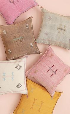 Baba Souk stocks the most beautiful handmade cactus silk pillows for your bohemian home! Moroccan Pouf, Moroccan Decor, Kilim Pillows, Bed Pillows, Bedclothes, Silk Pillow, Pouf Ottoman, Perfect Pink, Bedroom Decor