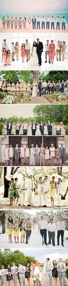 So many great bridal party ideas!    Bella Collina Weddings