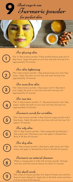 Turmeric face mask is the ultimate herb for your beautiful skin. Let's have a look on homemade turmeric face mask and their golden benefits on skin. skin 10 Turmeric Face Mask For Glowing And Beautiful Skin Beauty Care, Beauty Skin, Health And Beauty, Face Beauty, Diy Beauty, Beauty Tips For Skin, Beauty Habits, Beauty Guide, Beauty Makeup