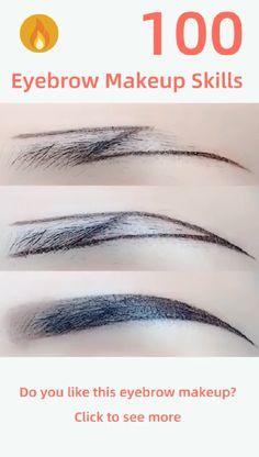 """Z"" eyebrow makeup - Augen Make-Up Best Eyebrow Makeup, Best Eyebrow Products, Eye Makeup Tips, Makeup Videos, Skin Makeup, Eyebrow Tips, Beauty Make-up, Beauty Hacks, Eyebrow Tutorial"
