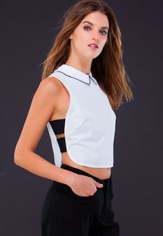 Suit Up Cropped Blouse | Spot it Pop it