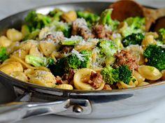 Simple and delicious school night dinner: orecchiette with sausage & broccoli