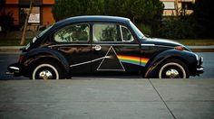 Pink Floyd - Dark side of the moon VW Beetle My Dream Car, Dream Cars, The Beatles, Arte Pink Floyd, The Dark Side, El Rock And Roll, Vw Vintage, Vintage Grunge, Vintage Vibes