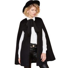 5216544efb2 Black Split-seam Cape. Ivyary · Jackets and Blazers