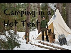 Winter Camping in a Canvas Tent with a Dog and a Woodstove. - YouTube