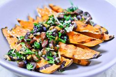 Grilled Sweet Potatoes with Black Olives and Almonds Recipe (recipe) / by Chocolate & Zucchini