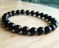 Genuine black onyx bracelet women yoga bracelet friendship bracelet Healing Bead Healing Reiki Jewelry Bracelet boyfriend gift B218 by OrientAppeal on Etsy