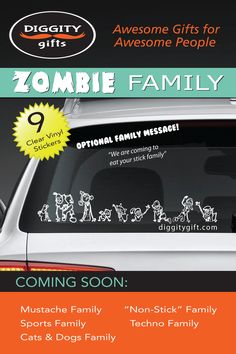 Vote for the next car sticker family to hit Diggity Gifts! Will it be  Zombies