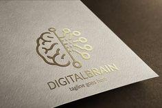 Digital Brain Logo by tkent on @creativemarket