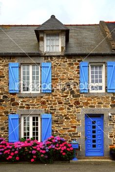 Typical Country house in Brittany, France
