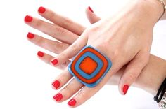 Glass Ring For Her Gift Ideas  big bold oversize by StudioLeanne, $32.00