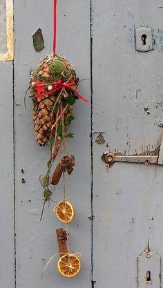 Magical Christmas decoration - Christmas nostalgia for hanging - a designer piece . Christmas Wonderland, Magical Christmas, Christmas Makes, Red Christmas, Christmas Time, Christmas Wreaths, Xmas, Christmas Ornaments, Holiday