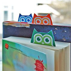 Bokmerke-ugler m/kort - marque-page imprimables avec carte - printable bookmarks with card Owl Crafts, Diy And Crafts, Crafts For Kids, Arts And Crafts, Kids Diy, Owl Theme Classroom, Craft Projects, Projects To Try, Free Printables