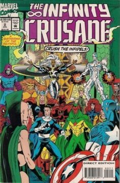 Infinity Crusade (Jul Marvel) for sale online Marvel Comics Superheroes, Hq Marvel, Marvel Comic Books, Comic Book Heroes, Marvel Movies, War Comics, Book Cover Art, Comic Book Covers, Book Art