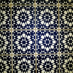 Living Room Designs: Moroccan Tile Design Cream And Black Tile Classic Pattern, Beautiful, House