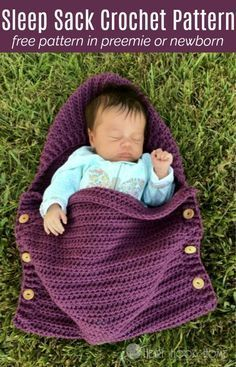 This newborn sleep sack, a free crochet pattern, falls right in line with the Painted Canyon style. Get the preemie or the newborn patterns for free. Woot!