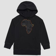 Well Worn Kids Unisex Africa Quilt Sweatshirt - Black : Target
