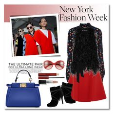 """NYFW"" by vkmd ❤ liked on Polyvore featuring See by Chloé, Miu Miu, Elizabeth and James, New Look, Urban Decay, Kevyn Aucoin, Chloé, MAC Cosmetics, Fendi and women's clothing"