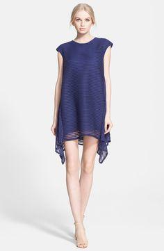 Rachel Zoe 'Steff' stripe shark bite A-line dress in indigo