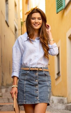 #terreetmer #nice #frenchriviera French Riviera, Denim Skirt, Nice, Skirts, Fashion, Surf And Turf, Dress Shirt, Moda, Fashion Styles