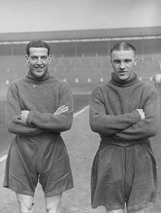 Bill Shankly (right) photographed on the 15th of April 1937 with Preston North End's midfielder Hugh O'Donnell before the Cup final. He only played for two clubs - first Carlisle for one season, then Preston from 1933 to 1949