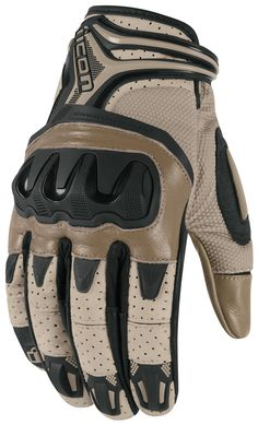 Overlord Resistance Battlescar Gloves. The flexibility, fit and feel of an athletic glove with a multitude of exterior reinforcements. French cowhide palm, molded TPR knuckles, Ax Suede backhand, and mesh paneling are perfect for hi-velocity engagements against fortified enemies.