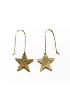 FREE UK DELIVERY. These brass star earrings are so cute and match with our fox necklace or hare necklace. See all our fair trade jewellery online.