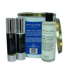 En god sammensat pakke med alt, hvad din mand behøver for at blive godt forkælet igennem vinteren.  Den består af:  - Figen og Vanilje kropsshampoo (250 mL) - Ris Klid Serum, ikke-skummende - til barbering (50 mL) - Blødgørende ansigtscreme (50 mL)