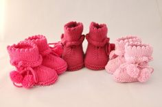 KNITTING PATTERN baby booties- easy knitting for baby- baby crib shoes- knitting for girl- newborn- reborn-romantical booty- PDF instruction Baby Booties Knitting Pattern, Baby Boy Knitting Patterns, Crochet Baby Booties, Baby Patterns, Crochet Patterns, Knitted Baby, Knitting Blogs, Easy Knitting, Knitting For Beginners