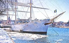Famous ship in Stockholm. The af Chapman, formerly the Dunboyne (1888–1915) and…