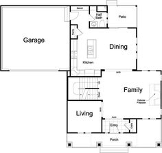 Kensington Ivory Homes Floor Plan - Main Level