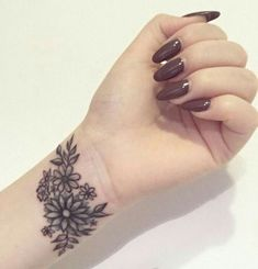 hina mhndi Cover Up Tattoos For Women, Tattoos For Women Small Meaningful, Meaningful Wrist Tattoos, Simple Tattoos For Women, Wrist Tattoos For Women, Tattoo Designs For Women, Wrist Flowers, Flower Wrist Tattoos, Small Wrist Tattoos