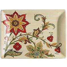 Carynthum Rectangle Platter $39.95.  So pretty!  Dinnerware I did not need, so I just bought a couple of platters.