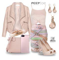 """Peep Toe Pink Fashion"" by kashmier ❤ liked on Polyvore featuring Burberry, Zizzi, Marina Hoermanseder, Topshop, Incipio, Fendi, Ippolita and peeptoe"