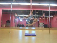 aerial silks inspired trick for aerial yoga/hammock class