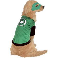 Green Lantern Dog Costume