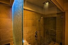 Bed And Breakfast | Property Photos The Thomas Wolfe bathroom with its ceiling mounted rain head shower, hand shower and roman bath.,1900 Inn on Montford