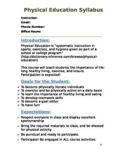Physical education excel data worksheet editable physical physical education syllabus that can be edited malvernweather Image collections