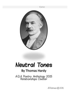 hardy neutral tones pathetic fallacy In neutral tones, this is done through pathetic fallacy where the white 'sun', 'starving sod' and 'grey leaves' with their monochromatic colours reflects the speaker's inner feeling of melancholia and does nothing to console him.