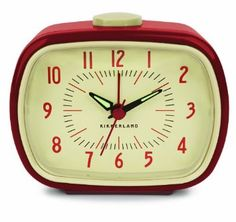 Amazon.com: Kikkerland Retro Alarm Clock, Red: Home & Kitchen