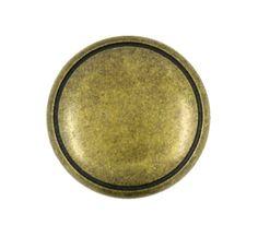Antique Brass Metal Shank Buttons - 20mm - 3/4 inch