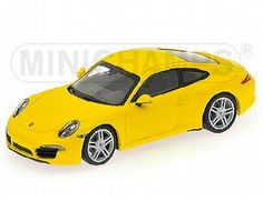 The Porsche 911 Carrera 2012 Yellow is a diecast model in 1/43 scale and is part of the Minichamps Road Car Collection