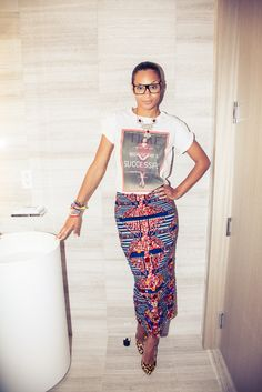 Stella Jean wearing her design. A mix of african print and italian(as she is). African Inspired Fashion, African Print Fashion, Africa Fashion, Fashion Prints, African Prints, Ankara Fashion, Fashion Mode, Moda Fashion, Fashion Hacks