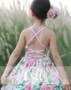 The Calli Sundress is perfect for hot summer days.It's an open back dress, packed with optionsChoose between thin or thick straps, high or scoop neck,and short Sewing Projects For Kids, Sewing For Kids, Fashion Design For Kids, Kids Fashion, Emo Fashion, Dresses Kids Girl, Kids Outfits, Sun Dresses, Floral Dresses