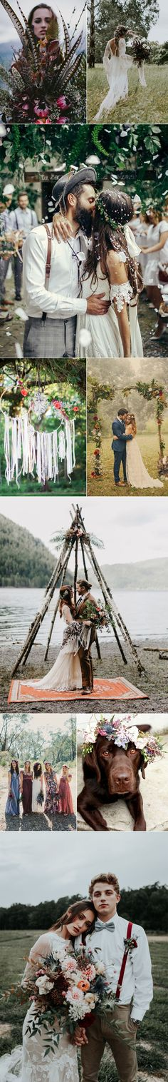Bohemian chic wedding ideas full of spirit and style.