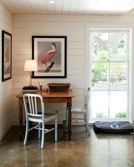 Whats not to love? Concrete floors and amazing walls/ceilings/windows? Sold.
