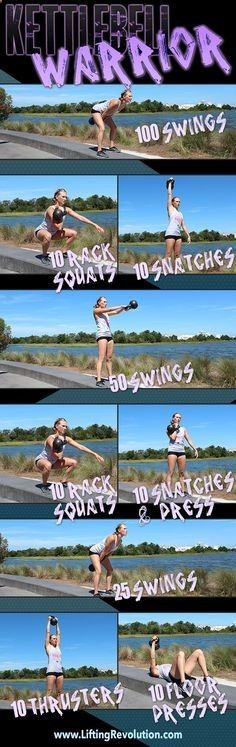 The Kettlebell Warrior Workout www.liftingrevolu... https://www.kettlebellmaniac.com/kettlebell-exercises/