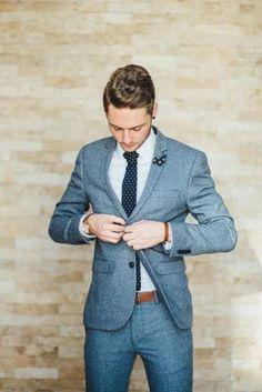 Stylish groom with black earrings in this relaxed rustic johannesburg wedding - yeah yeah photography Rustic Wedding Suit, Blue Suit Wedding, Wedding Groom, Wedding Men, Men Wedding Attire, Summer Wedding Suits, Vintage Wedding Suits, Wedding Reception, Tuxedo Wedding