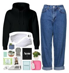 """LAUR"" by jessinnnes ❤ liked on Polyvore featuring Topshop, Vans, Acne Studios, Kitchen Craft, Lux-Art Silks, Betty Jackson, Universal Lighting and Decor, Simple, adidas and Urban Decay"