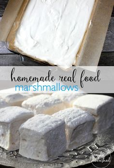 Homemade Real Food Marshmallows | Grain-free, Dairy-free, Egg-free, Refined sugar-free | http://simplynourishedrecipes.com/real-food-marshmallows/